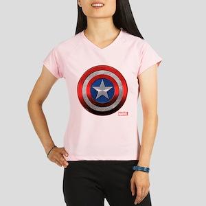 Captain America Grunge Performance Dry T-Shirt