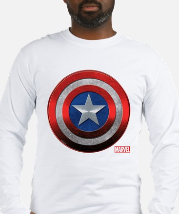Captain America Grunge Long Sleeve T-Shirt