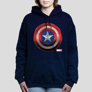 Captain America Grunge Women's Hooded Sweatshirt