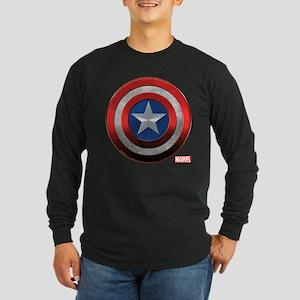 Captain America Grunge Long Sleeve Dark T-Shirt