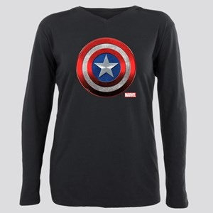 Captain America Grunge Plus Size Long Sleeve Tee