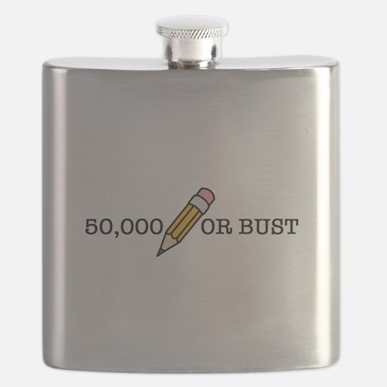 50,000 Or Bust Flask
