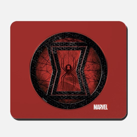 Black Widow Grunge Icon Mousepad