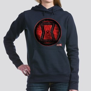 Black Widow Grunge Icon Women's Hooded Sweatshirt