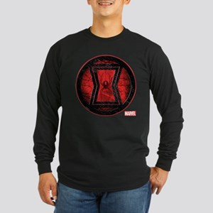 Black Widow Grunge Icon Long Sleeve Dark T-Shirt