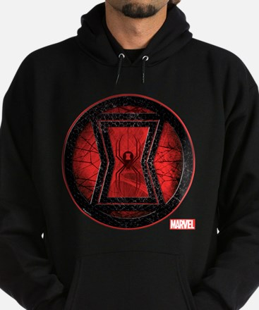 Black Widow Grunge Icon Hoodie (dark)