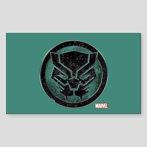 Black Panther Grunge Icon Sticker (Rectangle)