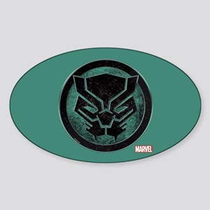 Black Panther Grunge Icon Sticker (Oval)