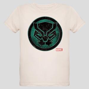 Black Panther Grunge Icon Organic Kids T-Shirt