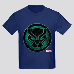 Black Panther Grunge Icon Kids Dark T-Shirt