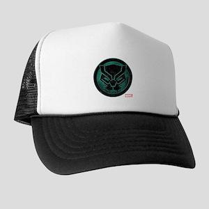 Black Panther Grunge Icon Trucker Hat