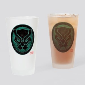 Black Panther Grunge Icon Drinking Glass