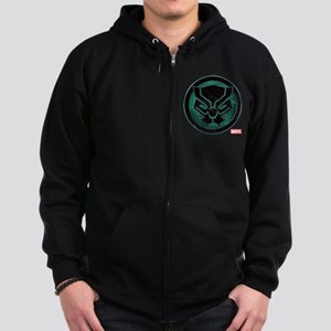Black Panther Grunge Icon Zip Hoodie (dark)