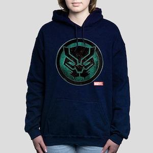 Black Panther Grunge Ico Women's Hooded Sweatshirt