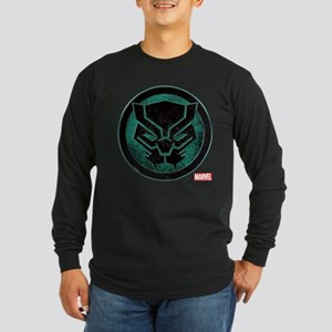 Black Panther Grunge Icon Long Sleeve Dark T-Shirt