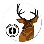 What the Buck Round Car Magnet