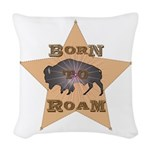 Bison Star Woven Throw Pillow