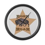 Bison Star Large Wall Clock