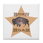 Bison Star Tile Coaster