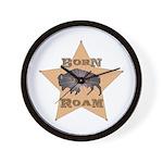Bison Star Wall Clock