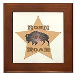 Bison Star Framed Tile