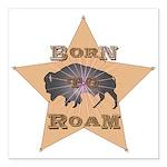 Bison Star Square Car Magnet 3