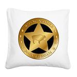 Roam Ranger Bison Square Canvas Pillow