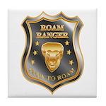 Born To Roam Roam Ranger Bison Head Tile Coaster
