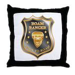 Born To Roam Roam Ranger Bison Head Throw Pillow