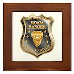 Born To Roam Roam Ranger Bison Head Framed Tile