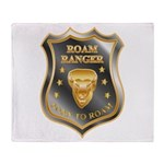 Born To Roam Roam Ranger Bison Head Throw Blanket