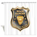 Born To Roam Roam Ranger Bison Head Shower Curtain
