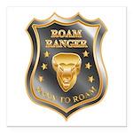 Born To Roam Roam Ranger Bison Head Square Car Mag