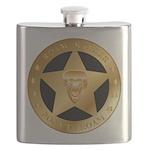 Born To Roam Ranger Star Black Flask