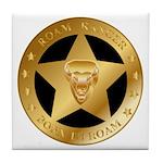Born To Roam Ranger Star Black Tile Coaster