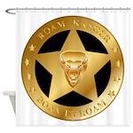 Born To Roam Ranger Star Black Shower Curtain