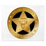 Born To Roam Ranger Star Black King Duvet