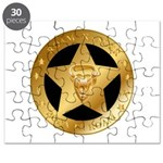 Born To Roam Ranger Star Black Puzzle