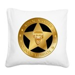 Born To Roam Ranger Star Black Square Canvas Pillo