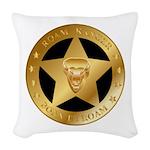 Born To Roam Ranger Star Black Woven Throw Pillow