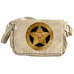 Born To Roam Ranger Star Black Messenger Bag