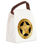 Born To Roam Ranger Star Black Canvas Lunch Bag
