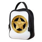 Born To Roam Ranger Star Black Neoprene Lunch Bag
