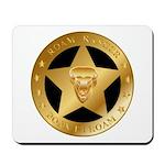 Born To Roam Ranger Star Black Mousepad