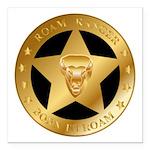 Born To Roam Ranger Star Black Square Car Magnet 3