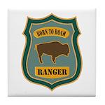 Ranger Patch Tile Coaster