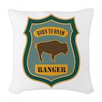 Ranger Patch Woven Throw Pillow