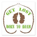 Get Lost Logo Distressed Square Car Magnet 3