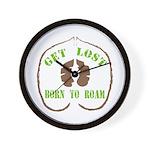 Get Lost Logo Distressed Wall Clock