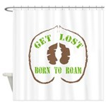 Get Lost Logo Distressed Shower Curtain